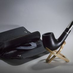 PipeHolder_photo01.jpg Download free STL file Foldable Pocket Smoking Pipe Holder • 3D printing design, 1sPiRe