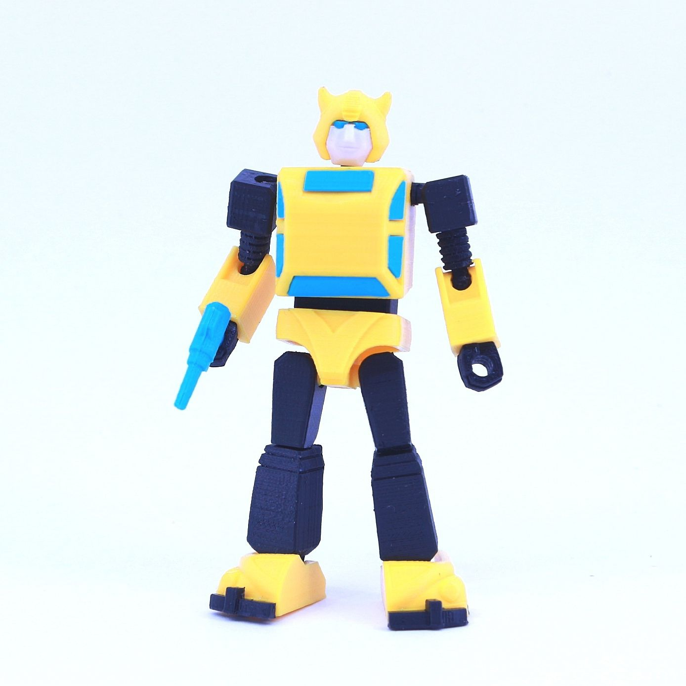 bee1.jpg Download free STL file ARTICULATED G1 TRANSFORMERS BUMBLEBEE - NO SUPPORT • 3D print template, Toymakr3D