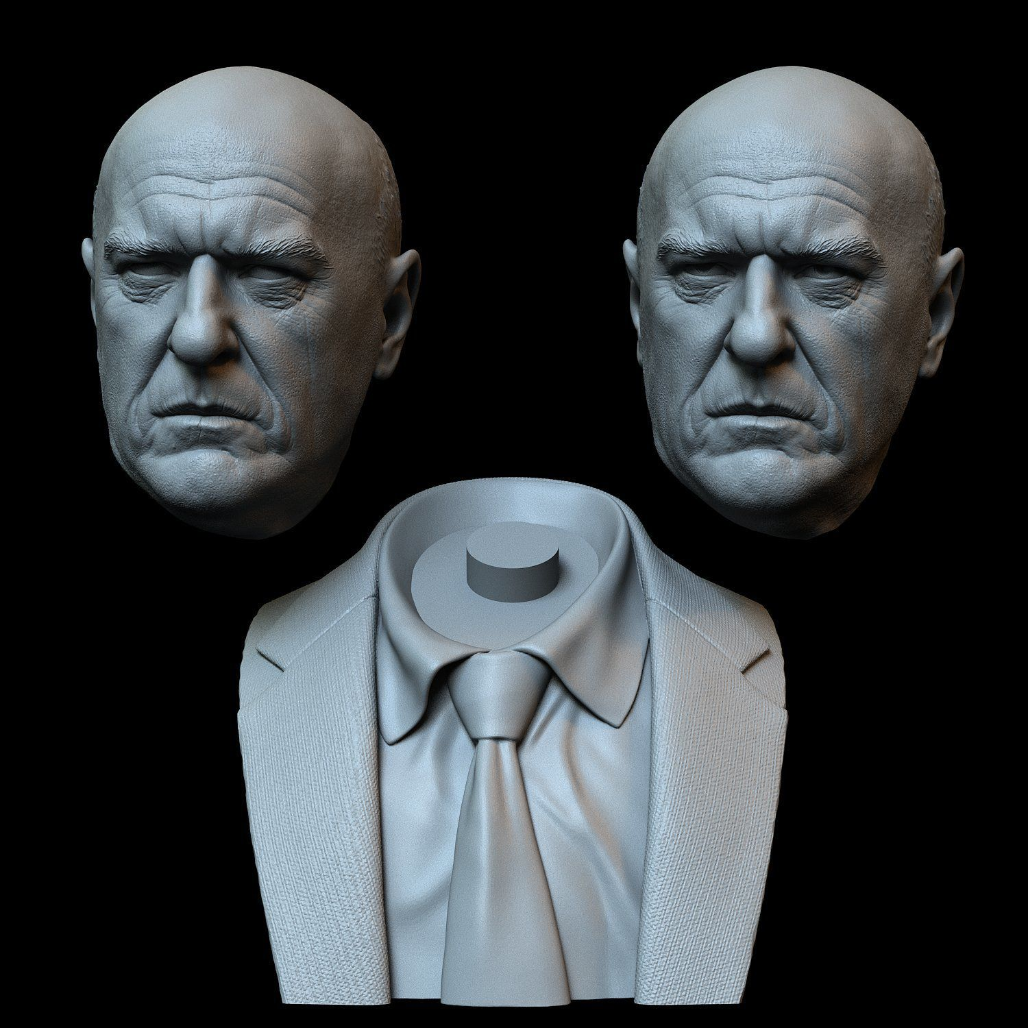Hank09.RGB_color.jpg Download STL file Hank Schrader (Dean Norris) from Breaking Bad • Template to 3D print, sidnaique
