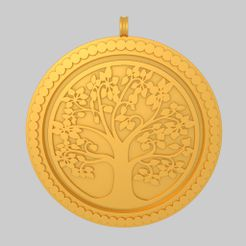 Preview-Tree of Life Pendant KTPF01 3D Model STL by KTkaRAJ.jpg Download STL file Tree of Life Pendant Keychain  KTPF01 3D Model STL • 3D printer object, KTkaRAJ