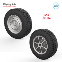 00.jpg Download STL file Vehicle wheels 1/32 • 3D printable template, LaythJawad
