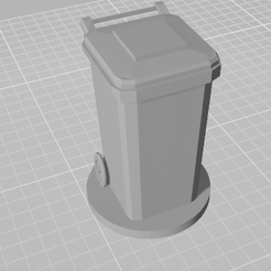 1Untitled.png Download STL file Garbage \ Trash can logo for business card holder • 3D printing model, ciprian_xro