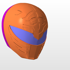 front.png Download STL file power rangers mmpr white ranger helmet stl file • 3D printing object, nellyscosplayandprops