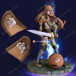 2.jpg Download free file Raphtalia From The Rising of the Shield Hero Ear Cosplay • 3D printer template, OXO3D