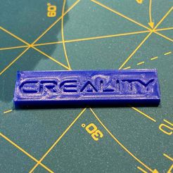 Creality_Nameplate.jpg Download free STL file Creality Faceplate for Bullseye Fan Duct • 3D printer template, johnrbussard
