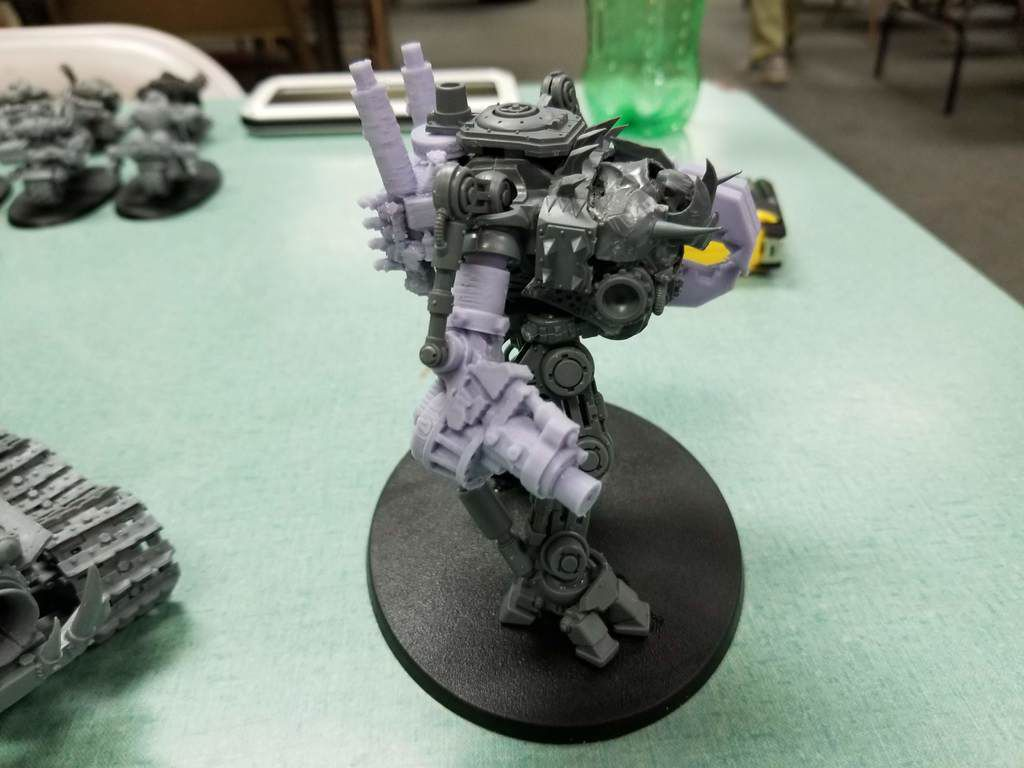 20180602_222031.jpg Download free STL file Ork Warlord or Ghaz using a Dreadknight • Template to 3D print, JtStrait72