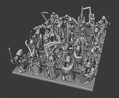 wraiths.png Download free STL file Warmaster Undead Ethereal Host • 3D printer template, grumpusbumpus