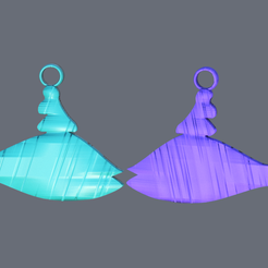 wale.png Download free STL file Wale earrings • 3D printing template, IdeaLab