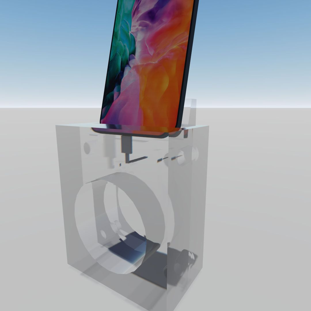 iPhone Dock_8 - Foto.jpg Download STL file PHONE Dock Acoustic Amplification Stand (FOR PERSONAL USE ONLY) • Object to 3D print, StarForgeCustoms