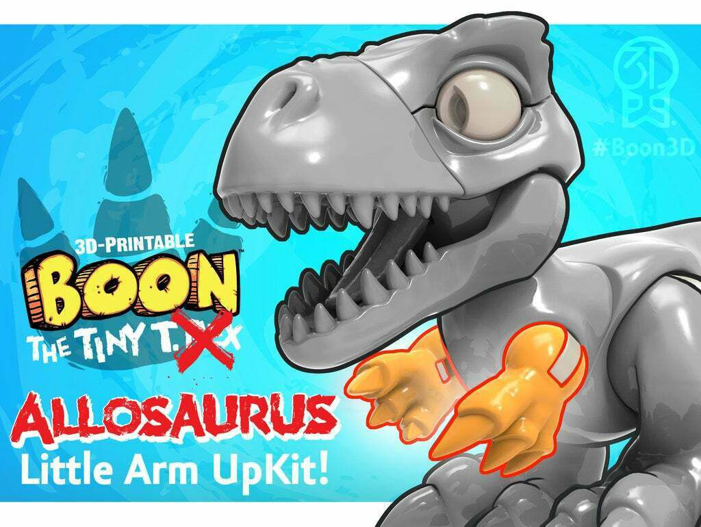Boon_Allosaurus_6.jpg Download free STL file (Arms ONLY) Boon the Tiny T. Rex: Allosaurus UpKit - 3DKitbash.com • Model to 3D print, Quincy_of_3DKitbash