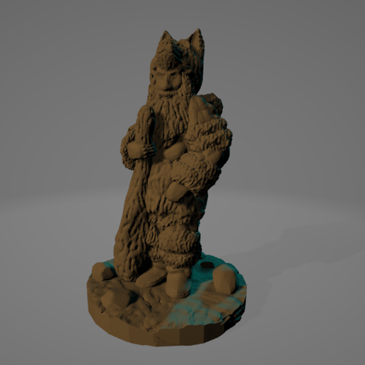 SL-bearded-Wolf-Clubber.png Download STL file Easy-Print Bearded Wolf-Head Clubber • 3D printing model, Ellie_Valkyrie