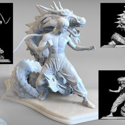 bruse lee m2.10.jpg Download STL file dragon bruce lee • 3D printable object, walades