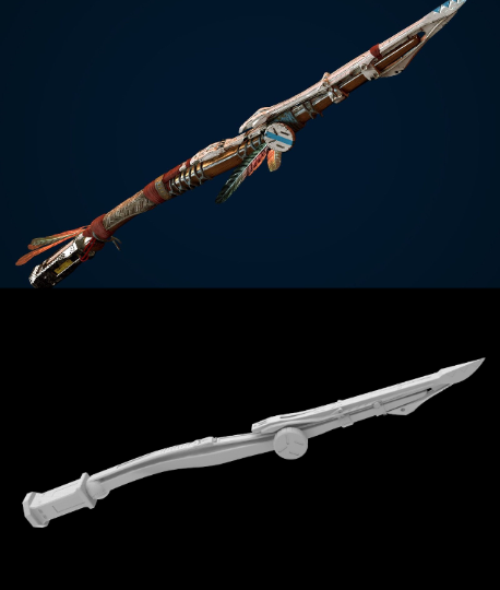 download (2).png Download STL file Aloy Spear (for cosplay) • Object to 3D print, MarduProductions