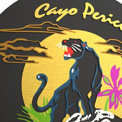 untitled.41.jpg Download STL file GTA Cayo Perico Logo Panther Jacket • 3D printable model, StudioNeoL3