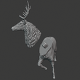 stag 8.png Download free STL file Stag Trophy • 3D printing object, DFB93