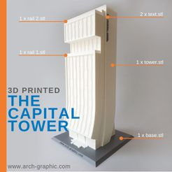 the capital tower 01.jpg Download STL file The Capital Tower • 3D printing template, ARCH-GRAPHIC