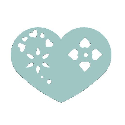 2019-02-17_215541.png Download STL file Heart Plate Symbol No.2 • 3D printable template, Tum
