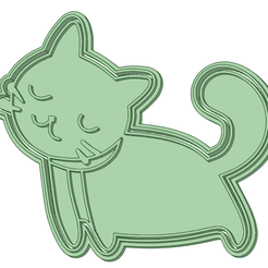 Gatito_e.png Download STL file Kitty 90 mm cookie cutter • Design to 3D print, osval74