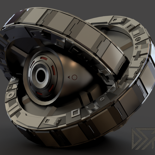 Lifeboat-v18-2.png Download free STL file Timeless Life Boat with Spinning Rings • 3D printing object, Dsk