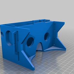 GOOGLE_CARDBOARD_v2_3.png Download free STL file Google cardboard for Galaxy S5 W/Head strap mounts and USB port access. • Template to 3D print, CanuckBear