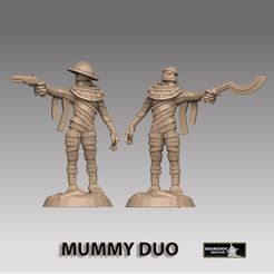 mummy-duo-insta.jpg Download STL file Mummy Duo • 3D printer model, SharedogMiniatures