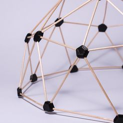 1.jpg Download free STL file Geodesic dome • 3D printer object, piuLAB