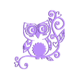 009.stl Download STL file OWL (Owls) 2D • Template to 3D print, sergiomdp01