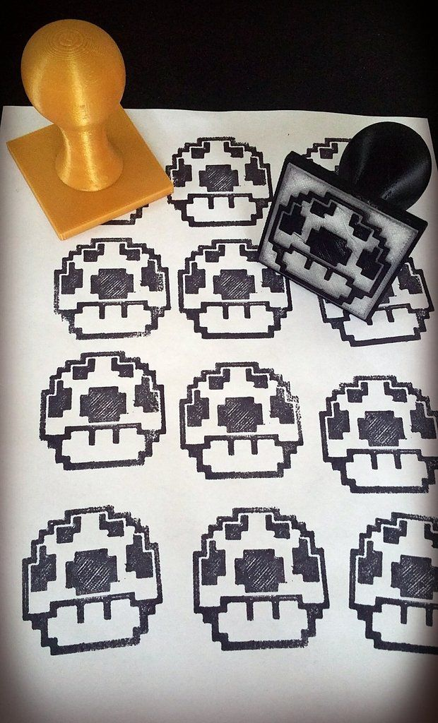 ad45cf35853f5ec3adf97e286320dd9a_display_large.jpg Download free STL file Geeky 8bit character Rubber Stamps • 3D printing design, Dourgurd