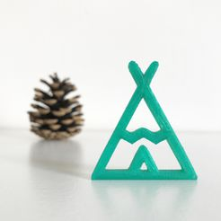 1.JPG Download free STL file Indian teepee • Object to 3D print, Free-3D-Models