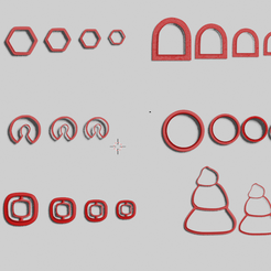 Captura.png Download STL file set of polymer clay cutters • Object to 3D print, CristinaUY