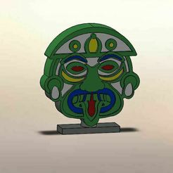 zas.jpg Download STL file AZTECA MASK • 3D printing template, LuisCrown