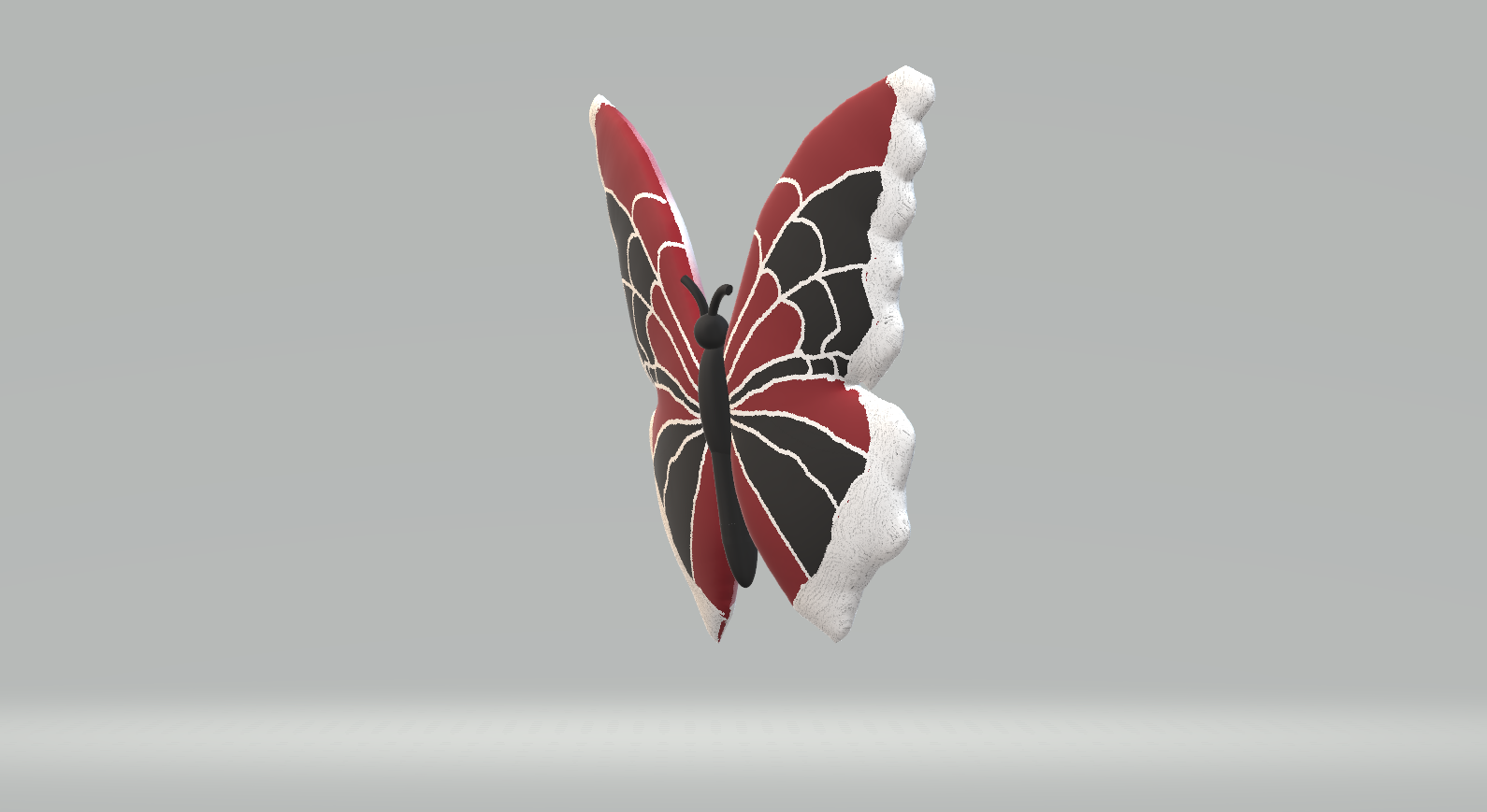 butterfly6.png Download STL file Red & Black Butterfly • Model to 3D print, preethijay