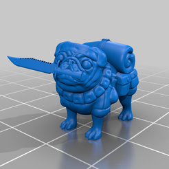 jungle_fighter_pug.png Download free STL file Jungle Figther pug (catachan) • 3D printable model, IceLord399