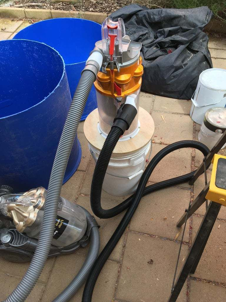 IMG_4601.JPG Download free STL file Dyson cyclone based dust extractor - simple build • 3D printer object, CartesianCreationsAU