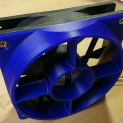DSC01687_display_large.jpg Download free STL file 120 mm Fan Air Flow Optimizer/ Flow Rectifier / Nozzle • Template to 3D print, Werthrante