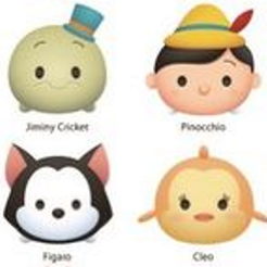 jimminy pinocchio figaro cleo.png Download STL file 8 cookie cutter tsum tsum pinocchio cleo figaro alice jimminy cricket cheshire oyster rabbit • 3D print object, Majin59