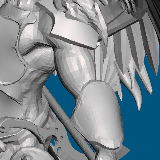 arm_old.PNG Download free STL file Offering to the Emperor for 1000th follower milestone (28mm) • 3D printable template, Sebtheis