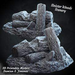 1.jpg Download STL file Wooden logs 3D terrain for tabletop games Pre supported • 3D printing model, DamianJimenez