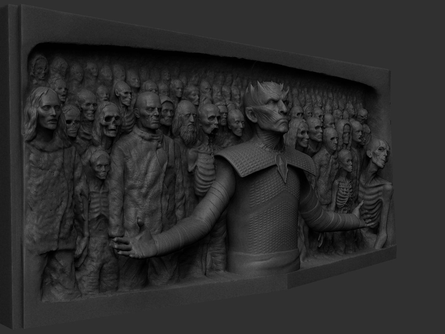 ZBru8778sh Document.jpg Download STL file Game of Thrones - Night King - Hardhome Relief • 3D printing model, brkhy
