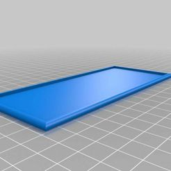 5x1Cavalry.jpg Download free STL file 5x1 cavalry movement tray for 28 mm miniatures • 3D printer template, PhysUdo