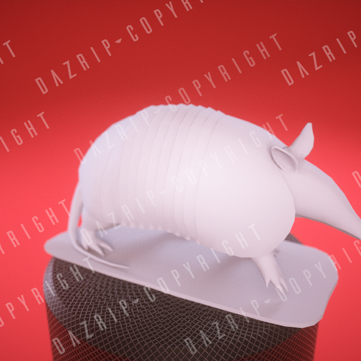 IMG_006_0001.png Download free STL file Armadillo Low Poly • 3D print object, DaZRip