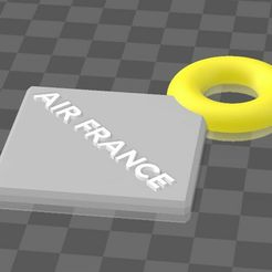 Air_France_Keychain.jpg Download free STL file Air France Keychain • 3D printer template, antoinedesseaux0