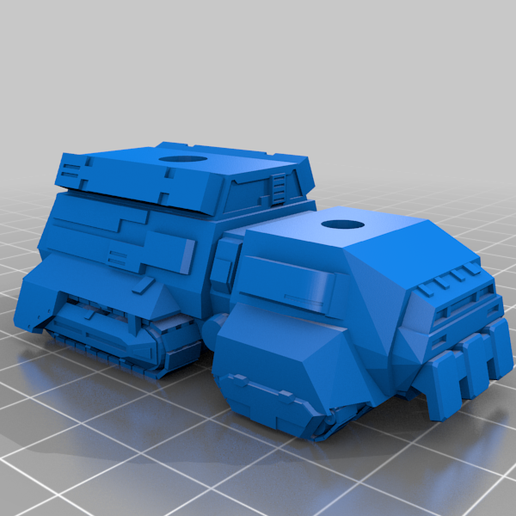 Gulltopprhull.png Download free STL file Standard Scale Vehicle Collection • 3D printer model, IonRaptor