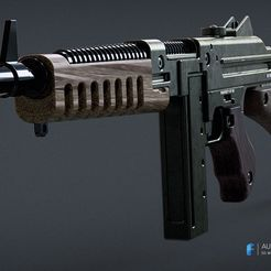 sms_a-4.jpg Download free STL file Wolfenstein The New Order SMG • 3D print model, 3dpicasso