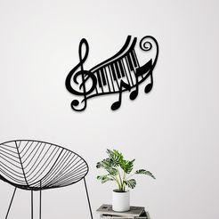 Untitled-1 copy.jpg Download STL file Music sign wall art • 3D printer model, 3dprintlines