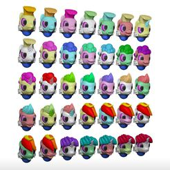 Helmetless_Heads_1.jpg Download STL file My Little Marine Helmetless Heads Pack • 3D printable object, HappyDuck3D