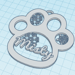 Misty-Pegada.png Download STL file Christmas Ornament Footprint - Misty • 3D printable object, Dubie