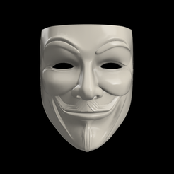 Anonymous.png Download STL file Anonymous / V for Vendetta Mask • Object to 3D print, jota_3dprinting