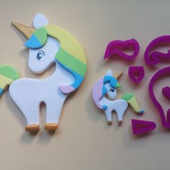 20180606_160400.jpg Download free STL file Unicorn, Pony, Fondant Cutter, Edible Pastes, Cold Porcelain and Ceramics • 3D print object, CR3D-creaciones3d