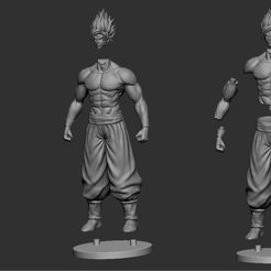 23.JPG Download STL file GOKU super saiyan - Dragonball Super • 3D print model, Bstar3Dart